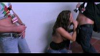 pornk - auf der messe im treppenhaus brutal zwei typen abgefickt thumbnail