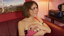 Busty Euro slut rides cock on casting