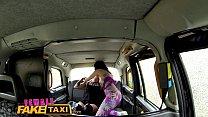 Female Fake Taxi Sexy lesbian strap on fuck in cab صورة