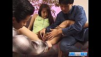 Hottie in green  nylon masturbation by two bal tion by two bally shafts