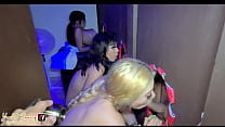 Me and my 2 girlfriends do a delicious gangbang...