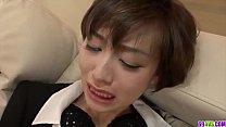 Akina Hara shows proper blowjob before fucked hard - More at 69avs com