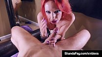 Busty Redhead Wife Shanda Fay Stuffs Mouth With Lucky Cock!