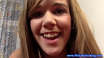 Amateur euroteen sucking dick and facialized