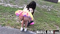 Mofos - Stranded Teens - Ebony Raver Gets Freaky in Field starring  Maya Bijou and Tony Rubino