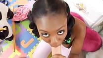 Jovencita negra folla al maximo