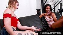 Young Chocolate Chick Jenna Foxx Tongues Pale Kat Monroe! thumbnail