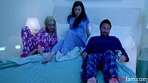 Sneaky Daughter Tricks Mom and Dad Into Fucking Her- Savannah Six & Honey Blossom
