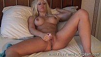 Hot Blonde Masturbates to Real Orgasms ‣ Rebecca Linares Dp thumbnail