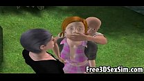 Two sexy 3D car toon bondage babes getting fuc bes getting fucked