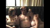 On real threesome Girls don't stop after man cums preview image