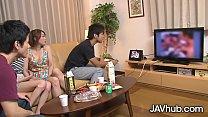 JAVHUB Japanese foursome with Hinata Hyuga and ...
