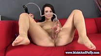 Solo teen babe with moist toyed big taco