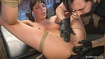 Big cock master anal bangs bound babe