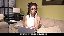 Submissived - Beautiful Ebony Queen Gets Filled With White Cock Vorschaubild
