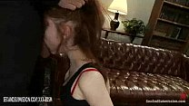 Redhead babe and brunette babe in slavery