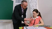 Erotic schoolgirl gets teased and plowed by her senior tutor preview image