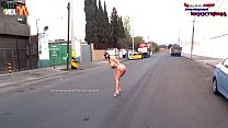 New! Super EXTREME Danna HOT Totally naked along Avenues of Mexico City pornhub video