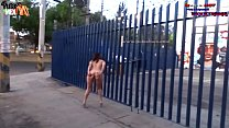 New! Super EXTREME Danna HOT Totally naked along Avenues of Mexico City thumbnail