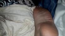 Sexy Sleeping feet latina