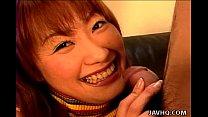 Excited girl Kyoka Usami amazing blowjob!