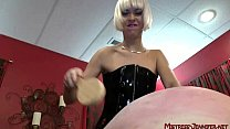 Triple Terror from 3 MIstresses on one male slave Image