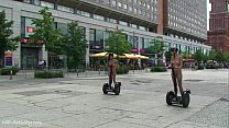 Hot Agnes and crazy Linda naked on public streets Image