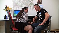 11341 Fucking big belly office lady on the floor preview
