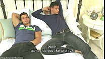SEX GAMES...Andrei Karenin shows Rhys Jagger how to play...