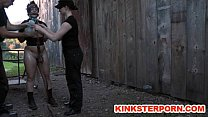 Image: Ponyslave Pervert BDSM Outdoor Training