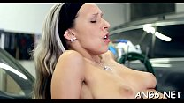 Cunning barely legal Tracy gets body caressed well