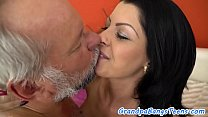 Young babe pussyfucked by horny grandpa
