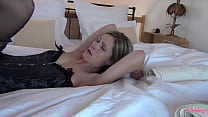 Skinny Melly fucked to orgasm. Long legs, suspenders and horny for sex! Dream woman!