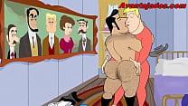 Cartoon Gay the Sheriff Puto