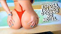 Esposa Infiel Traindo o Corno no Motel - Humilhando o Corno pela Webcam ROLEPLAY Cuckold and Wife