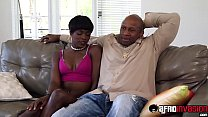 Pretty ebony babysitter puts in some extra work for her boss thumbnail