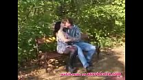 Horny Couple Fucks in the Park porn image