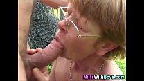 Granny In Glasses Outdoor Farm Fucking