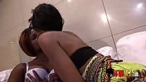 Real hot African lesbians and a dildo