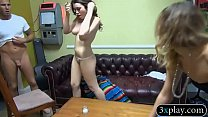 Beautiful brunette babe convinced to fuck for some cash
