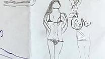 Hot nude drawn girls