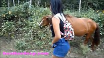 amatuer incest » Hd heather deep 4 wheeling on scary fast quad and peeing next to horses in the thumbnail