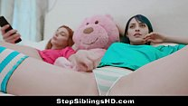 Hot Thot Sisters Get Horny For Sex & Stepbro Jo...