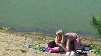 Voyeur Young German Couple Fuck at Beach of Hamburg