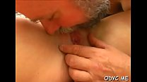 Aged dude gets his old jock wet by fucking a y. chick