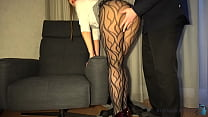 business woman has a meeting after work with a ...