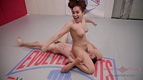 Gabriella Paltrova and Jay West fight dirty in a hot mixed gender, winner fucks loser wrestling match