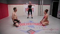 Gabriella Paltrova and Jay West fight dirty in a hot mixed gender, winner fucks loser wrestling match Vorschaubild