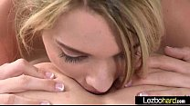 Cute Teen Lesbo Girls (Riley Reid & Kenna James) Make Love On Tape clip-26 image