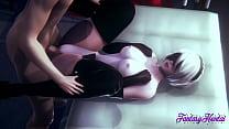 Nier Automata Hentai - 2B Blowjob and Fucked  -...